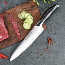 New top grade sharp knife 440c quality 8'' inch Frozen meat cutter Chef knife kitchen knife.