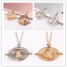 H.P. plated Time Turner Necklace Hourglass vintage pendant Hermione Granger for women lady girl wholesale 2COLOUR(China)