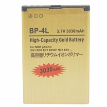 3.7v 3030mAh BP-4L BP 4L BP4L Mobile Phone Replacement Battery Batteries for NOKIA E61i E63 E90 E95 E71 6650F N97 N810 E72 Free