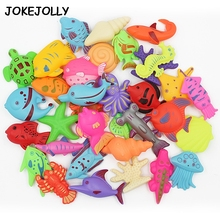 6pcs/lot Learning education magnetic fishing toy outdoor fun sports fish toys gift for baby/kid GYH