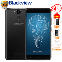 "Blackview P2 Mobile Phone 6000mAh Fingerprint ID MTK6750T Octa Core 5.5"" 1080P 13MP Camera Metal Body 9V2A Quick Charge(China)"