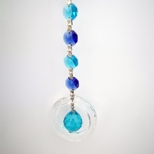 10 pieces Aquamarine Rainbow Maker Window Hanging Chain Lustre De Cristal Suncatcher For Crystal Christmas Ornament(China)