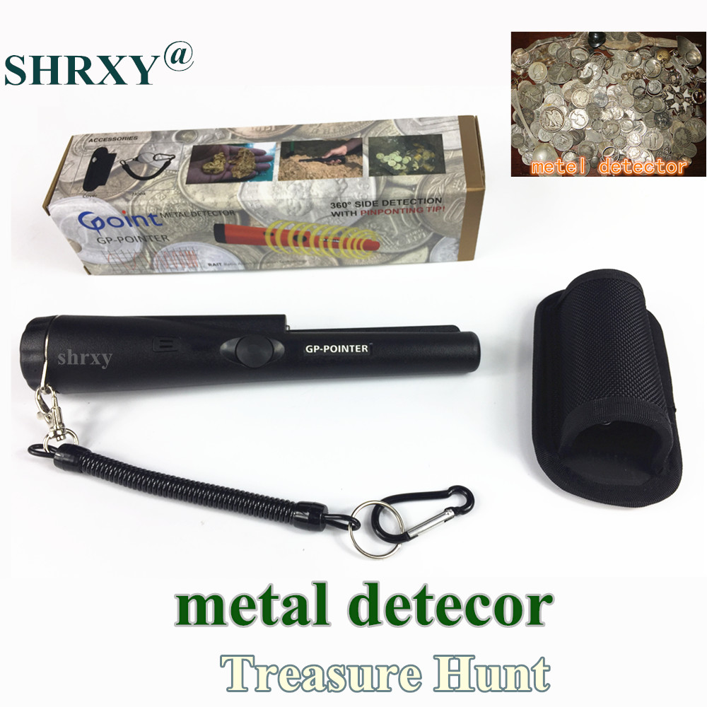 2017 Upgraded Sensitive Shrxy Metal Detector GP Pointer Pinpointing Hand Held Gold Metal Detector Water-resistant with Bracelet<br>