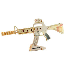 Mooistar2 #5018 3d jigsaw puzzle gun toys wooden adult children's intelligence toys W245(China)
