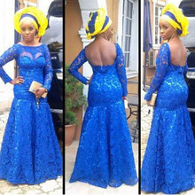2015  Aso Ebi Styles  Evening Dresses  Mermaid  Long Sleeves  Occasion  Dresses  Arabic aj styles