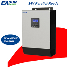 EASUNPOWER Parallel Inverter 24V 5Kva 4000W Solar Inverter 50A PWM Off Grid Inverter 220V Pure Sine Wave Inverter 60A AC Charger(China)
