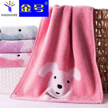 100% cotton towels Cartoon dog image good water imbibition Fashion atmosphere Twistless process Soft and comfortable