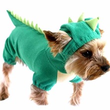 Dinosaur Dog Pet Green Halloween Costume XS S M L XL Coat Outfits
