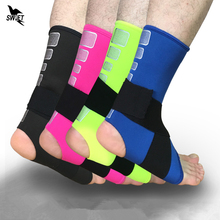1 PCS Adjustable High Elastic Bandage Compression Sports Protector Basketball Soccer Ankle Support Bicycle Running Brace Guard(China)