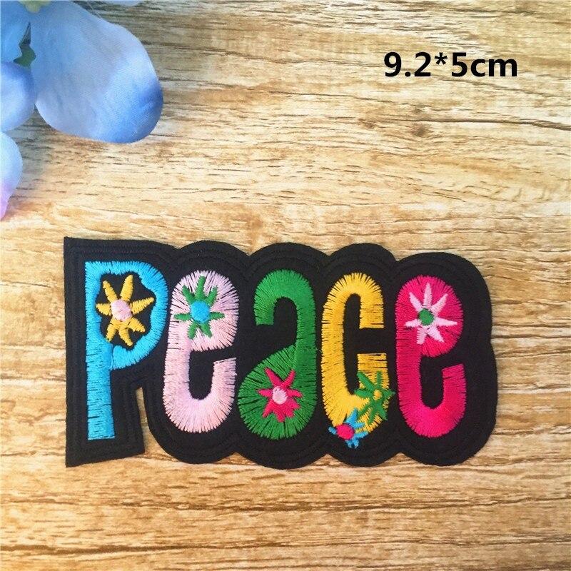 colorido 10,7x6,5cm bordados para ropa Parches paloma de la paz Peace