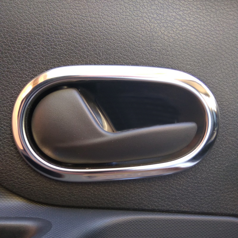 Stainless Steel Inner Interior Door Handle Bowl Cover Trim 4pcs