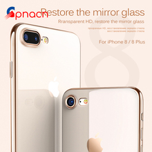 Luxury Clear TPU Soft Mobile Phone Case For iPhone 8 7 6 6S Plus Cover Electroplating Cases for iphone 8 8 7 6 6S plus bag(China)