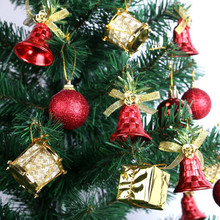 Christmas  Tree Hanging  Ornaments Bells Ball Drum Pendant  Decoration  Party  Home Shop Store Festival Decor  F1019