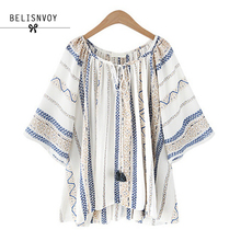 High Quality Summer Style 2017 Blouses Women Plus Size XL-5XL Fluid Systems Printed Casual Women Shirts Blusas Tops Vintage Body(China)
