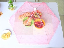 65cm Diameter Anti Flies Mosquito Kitchen Cooking Tools Meal Cover Hexagon Gauze Table Food Covers Umbrella Style  TB Sa