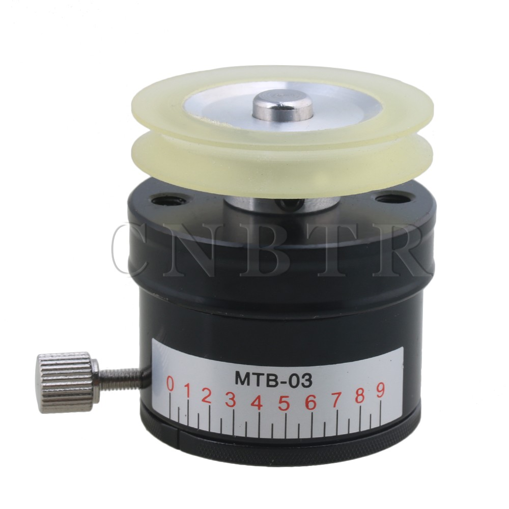 CNBTR MTB-03 Black Dia 4cm Height 4.5cm 10-150g Tension Torque Controller Mechanical Tension for Wire Coiling Binding Machine<br>