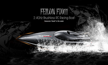 Buy FeiLun FT011 RC Boat 2.4G High Speed Brushless Motor Built-In Water Cooling System Remote Control Racing Speedboat RC Toys Gift for $105.99 in AliExpress store