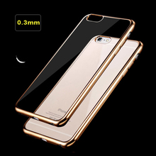 Clear Crystal Rubber Soft TPU Luxury Fashion Plating Electroplating Case Cover for IPhone5s 6 6s 7 Mobile Phone Bag Ultra Thin
