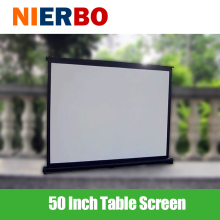 50 INCH Office Table Screen Desk Projection Screen Portable Meeting Home Theater Small Size Easy to Carry Store