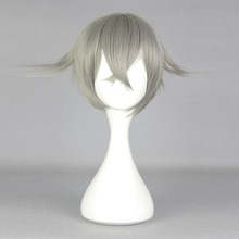 30cm Short Gray Touken Ranbu Hotarumaru Cosplay Hair Headwear Fashion Japanese Cartoon Touken Ranbu-Hotarumaru Cosplay(China)