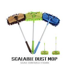 Mini mop handy easy mops floor car window cleaning new chenille telescopic removable dust mop Chenille cartoon(China)
