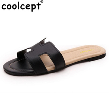 Coolcept female brand leisure sandals comfortable slippers soft summer shoes women beach flip flop ladies footwear size 35-40