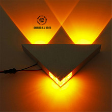 3W Aluminum Triangle led wall lamp AC85-265V high power led Modern Home lighting indoor and outdoor decoration light(China)