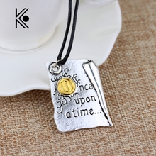 Wholesale Popular New Design Necklace Once Upon A Time Storybook Pages necklace Factory Direct Supply