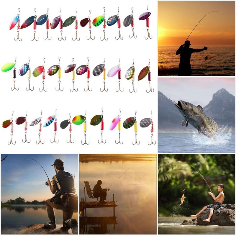 Spinnerbait Kit Metal Artificial Fishing Bait, iBuyXi.com, Fishing Accessories, Fishing, Fishing Lure, Fishing Equipment, Camping, Ocean Boat Fishing, Lake Fishing, Ice Fishing Wheel, Fishing Bait