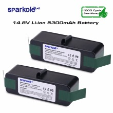 Sparkole 2pcsx 5300mAh 14.8V Lithium Rechargeable Battery for iRobot Roomba 500 550 560 600 650 700 800 900 Vacuum Cleaner(China)