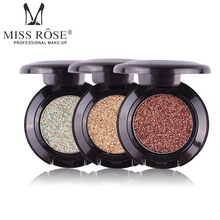 2017 New Glitter Eye Shadow Brand Cosmetics Pigment Silver Gold Warm Shimmer Shine Eyeshadow Single Palette Miss Rose Makeup