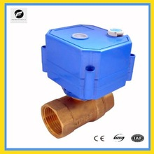 CWX-25S mini electric actuator control ball valve with manual override function DN8 DN10 DN15 DN20 DN25 DN32 brass for smart use