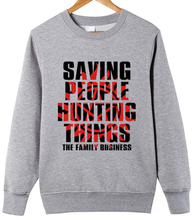 "Supernatural ""saving people hunting things"" the family business couple clothes woman cotton Sweatshirts"
