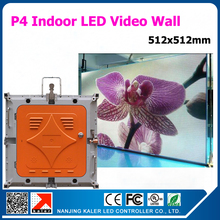 TEEHO 512x512mm p4 led indoor video wall rental die-cast aluminum wall display cabinets 1/16 scan 2121smd video display