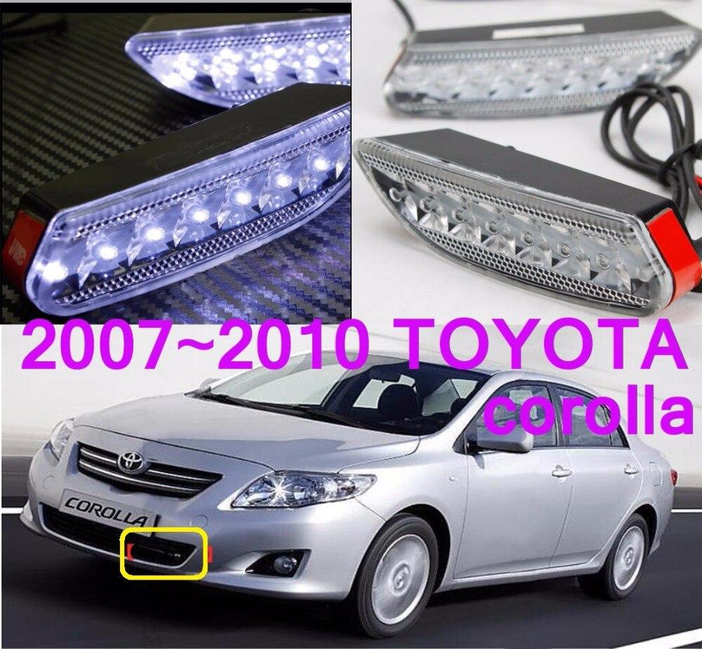 car-styling,2007~2010 Corolla daytime light,led,2pcs/set,corolla fog lamp;car-covers,chrome,corolla<br><br>Aliexpress