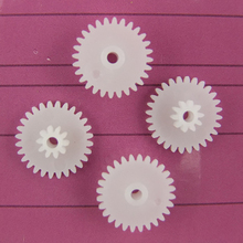 30pcs 28+10teeth 2hole double gear/plastic gears/reduction gear/diy toy accessories technology model parts rc car robot 28102