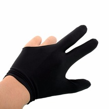 Durable Elastic Nylon Left Hand Open 3 Fingers Glove for Billiard Pool Snooker Table Cue Shooter Black Billard Accessories