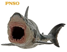 Megalodon Shark With Bracket Stand Support Big Size Classic Toys For Children Boys Sea life Ancient Animal Model Without Box