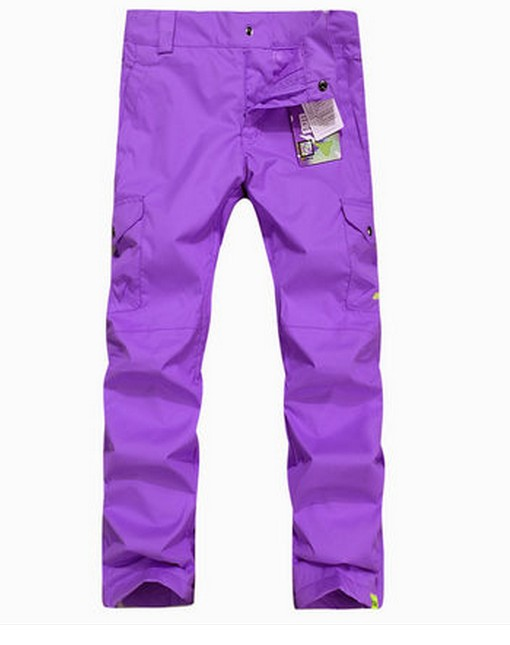 Womens violet ski pants female purple snowboarding pants outdoor sports trousers skating pants waterproof breathable warm 9