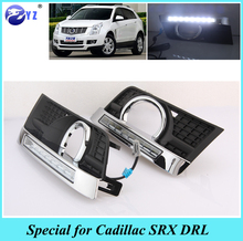 1Set For Cadillac SRX 2012 2013 2014 2015 2016 2017 LED DRL Daytime Running Lights Daylight Waterproof Fog Head Lamp car styling