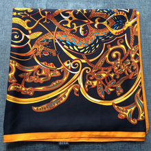 Music Stylish Women Twill Silk Scarf Brand Square Foulard Luxury Bandana HOT Brand New [135-1](China)