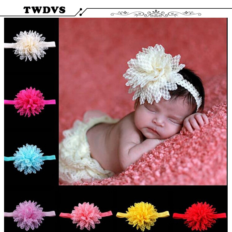 1PC TWDVS Wholesale Infant Headbands Shabby Flowers Pearl Rhinestone Chiffon Flowers Baby Headband Girls hair Accessories w42<br><br>Aliexpress