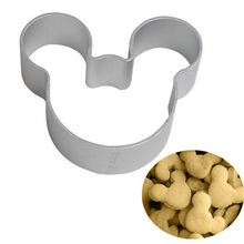 3PCS/se Lovely Cartoon Mickey Mouse Shape Metal Cookie Cutters DIY Baking Tools Fruit Fondant Mold Decorating Biscuit Cake Mould