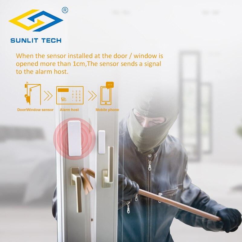 Newgoal Sensor de Advertencia de Seguridad de intrusi/ón de Puerta y Ventana Wi-Fi Detector magn/ético de Puerta de Ventana Inteligente