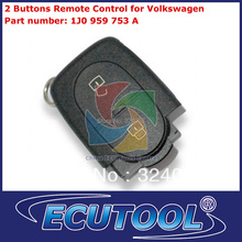 MOQ: 2 pc/lot 2 Buttons Remote Control 1J0 959 753 A for Volkswagen Car Key Remote Control with high quality
