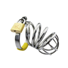 Buy Stainless Steel Cock Cage Male Chastity Device Metal CB Penis Lock Chastity Cage Virginity Belt Sex Toy Sex Product Men G107