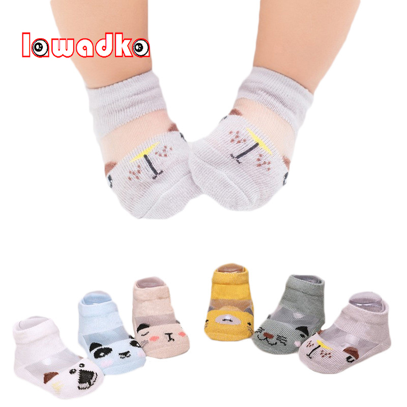 JT/_ 5 Pairs Cartoon Stripe Baby Kids Boy Girl Autumn Winter Soft Cotton Socks