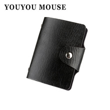 YOUYOU MOUSE 1pcs Men's Women Leather Credit Card Holder/Case Card Holder Wallet Business Card Package PU Leather Bag(China)