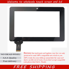 Free shipping 7'' inch Capacitive touch screen digitizer touch panel glass for Ainol novo7 novo 7 Crystal quad core tablet pc