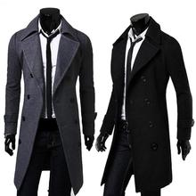 2016 New Mens Trench Coat Slim Mens Long Jackets And Coats Overcoat Double Breasted Trench Coat Men Windproof Winter Outerwear